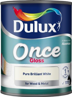 Dulux Once Pure Brilliant White Gloss 750ML